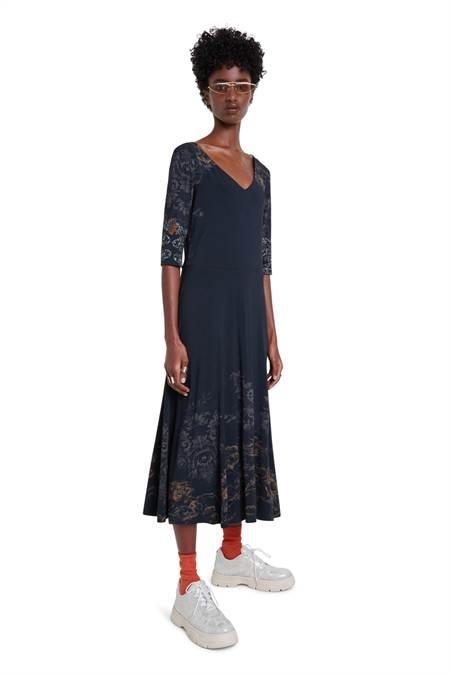 Desigual fekete midi ruha Vest Vero