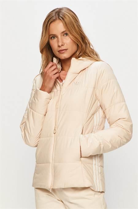 adidas Originals - Rövid kabát szín bézs