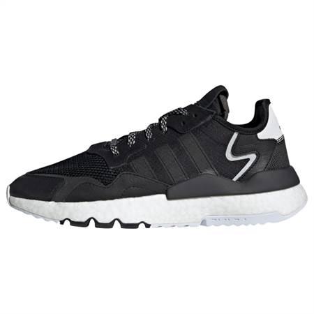 ADIDAS ORIGINALS Rövid szárú edzőcipők 'NITE JOGGER'  fekete / fehér