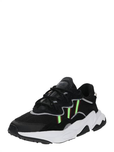 ADIDAS ORIGINALS Magas szárú edzőcipők  neonzöld / fekete