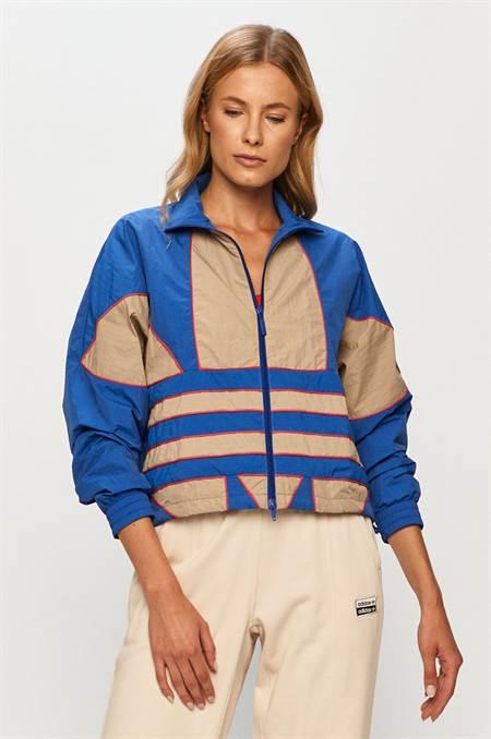 adidas Originals - Rövid kabát szín kék