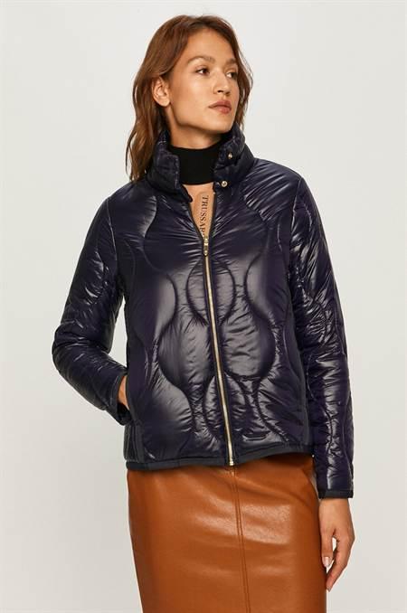 Trussardi Jeans - Rövid kabát szín sötétkék