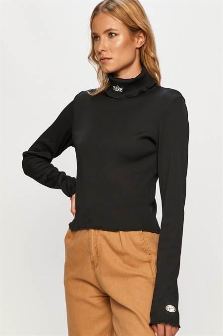 Nike Sportswear - Hosszú ujjú szín fekete